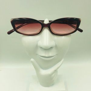 Nine West Vintage Red Oval Sunglasses Frame